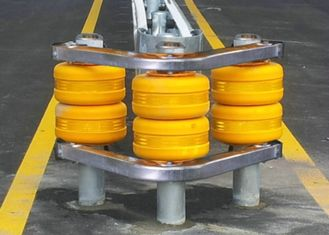 Modular Design Cushion Rolling Road Barrier For Intersection Crossing Road