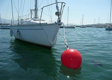 Rod Offshore Mooring Buoy , Polythene Channel Marker Buoy For Water Life